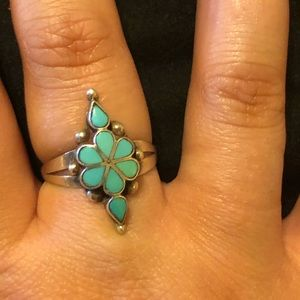 AUTHENTIC turquoise and sterling silver ring